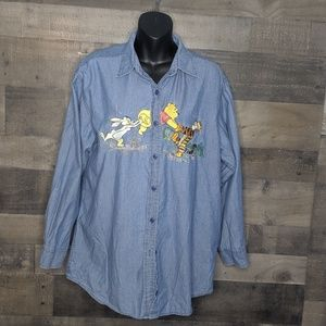 Disney Whinnie The Pooh and Friends Chambray Top